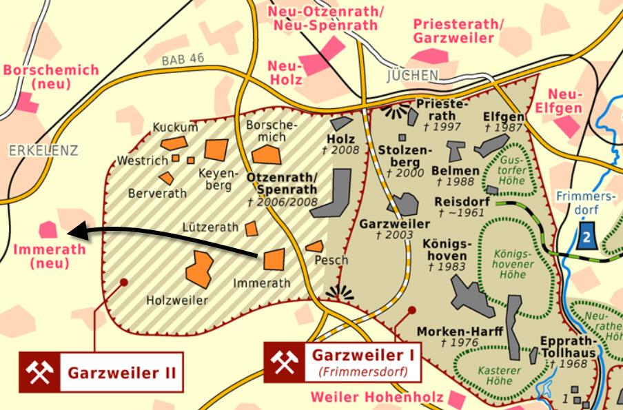 Garzweiler 1 & 2 Mine plans