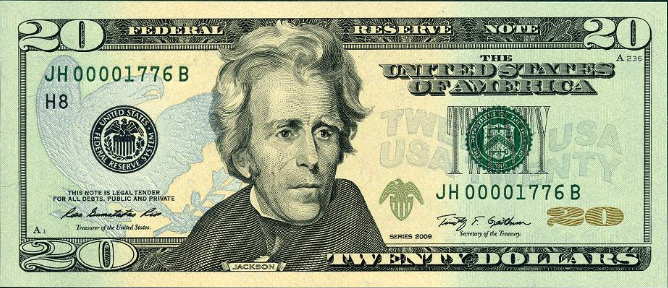 $20 Federal Reserve Note