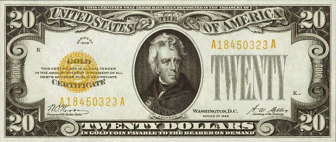 $20 Gold Certificate