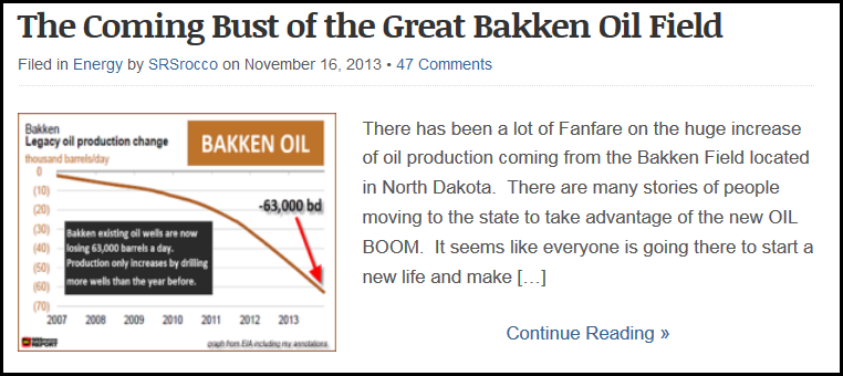 Coming Bust of Bakken IMAGE