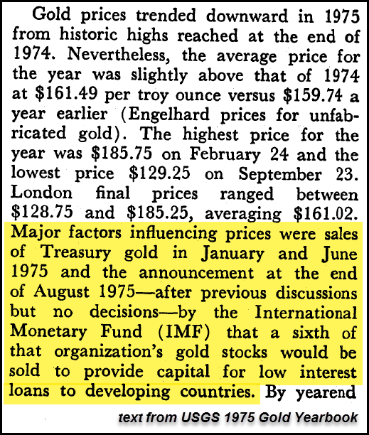 1975 IMF Gold sales